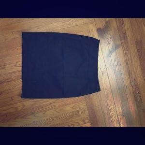 Tahari black work a-line skirt